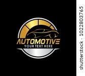 automotive logo template with... | Shutterstock .eps vector #1022803765
