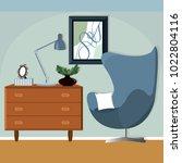 illustration of room interior... | Shutterstock .eps vector #1022804116