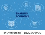 conceptual business... | Shutterstock . vector #1022804902