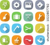 flat vector icon set   24 7... | Shutterstock .eps vector #1022807782