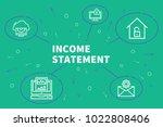 conceptual business...   Shutterstock . vector #1022808406
