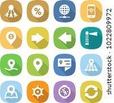 flat vector icon set   share... | Shutterstock .eps vector #1022809972