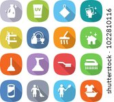 flat vector icon set   cleanser ... | Shutterstock .eps vector #1022810116