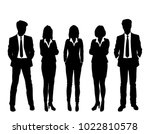 set of business people  vector... | Shutterstock .eps vector #1022810578