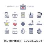 smart hi tech icons set | Shutterstock .eps vector #1022812105