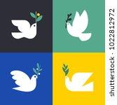 peace dove. flat style vector... | Shutterstock .eps vector #1022812972