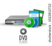 dvd player device plays discs... | Shutterstock .eps vector #1022813722