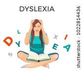 dyslexia mental disorder... | Shutterstock .eps vector #1022814436
