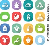 flat vector icon set   bio... | Shutterstock .eps vector #1022815018
