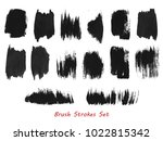 grungy brush strokes set over... | Shutterstock .eps vector #1022815342