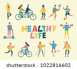 vector illustration in flat... | Shutterstock .eps vector #1022816602