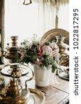 the bride's bouquet. wedding... | Shutterstock . vector #1022817295