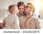 portrait of a cheerful young... | Shutterstock . vector #1022822875