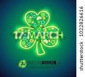 st patricks day 17 march... | Shutterstock .eps vector #1022826616