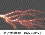 lightning electric thunder... | Shutterstock .eps vector #1022828476