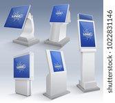 information interactive kiosk...   Shutterstock .eps vector #1022831146