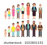 stages of growth people.... | Shutterstock .eps vector #1022831152