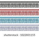 seamless fringe with tassel... | Shutterstock .eps vector #1022831155