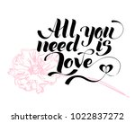 all you need is love.... | Shutterstock .eps vector #1022837272
