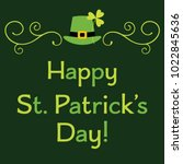 st. patricks day vector... | Shutterstock .eps vector #1022845636
