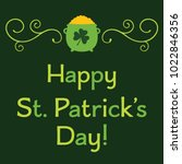 st. patricks day vector... | Shutterstock .eps vector #1022846356