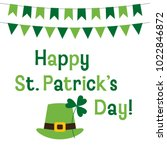 st. patricks day vector... | Shutterstock .eps vector #1022846872
