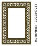 elegant ornamental rectangle... | Shutterstock .eps vector #1022847256