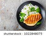 chicken breast or fillet ... | Shutterstock . vector #1022848075