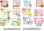 greeting card set | Shutterstock .eps vector #1022850352