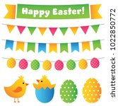 easter design elements  vector... | Shutterstock .eps vector #1022850772