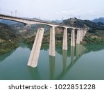 broken railway bridge   Shutterstock . vector #1022851228