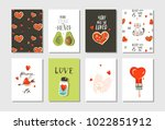 hand drawn vector abstract... | Shutterstock .eps vector #1022851912