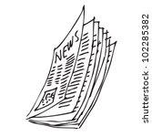 newspaper cartoon doodle | Shutterstock .eps vector #102285382