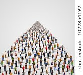 template with a crowd of... | Shutterstock .eps vector #1022854192