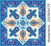 vintage ornamental tile design | Shutterstock .eps vector #1022856175