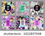 glitch futuristic posters ... | Shutterstock .eps vector #1022857048