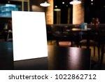 mockup empty white label menu... | Shutterstock . vector #1022862712