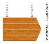 wooden signboard arrow with... | Shutterstock .eps vector #1022864575