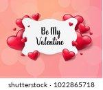 2018 valentine's day background ...   Shutterstock .eps vector #1022865718