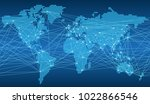 seamless map of the global...   Shutterstock .eps vector #1022866546