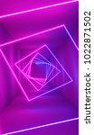 neon lights background. bright... | Shutterstock . vector #1022871502