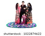 small gypsy boy   dancer and... | Shutterstock . vector #1022874622