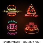 royal cheeseburger and... | Shutterstock .eps vector #1022875732