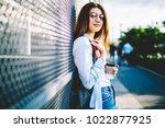 portrait of attractive girl in... | Shutterstock . vector #1022877925