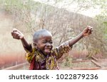 water is coming  african... | Shutterstock . vector #1022879236