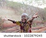 sweet little african boy under... | Shutterstock . vector #1022879245