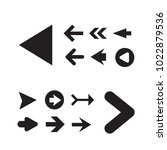 arrow icon set isolated on... | Shutterstock .eps vector #1022879536
