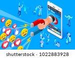 social influencer concept.... | Shutterstock .eps vector #1022883928