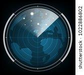 technology digital future...   Shutterstock .eps vector #1022886802