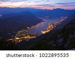 kotor bay on sunset  ... | Shutterstock . vector #1022895535